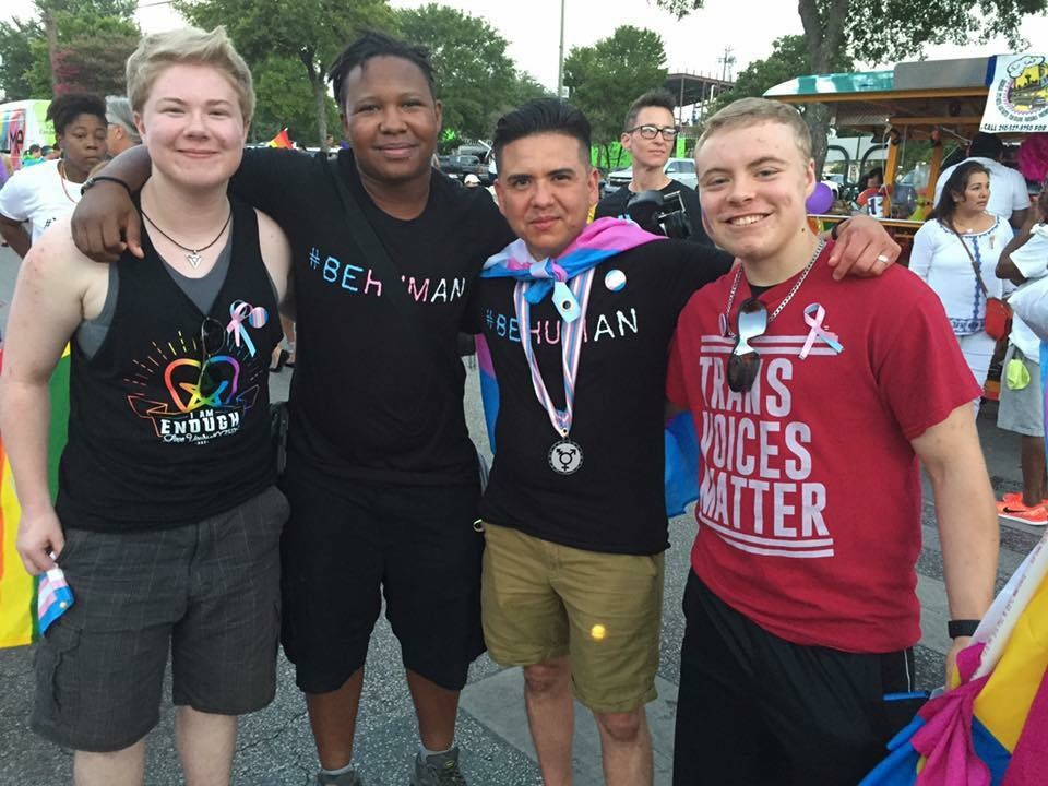 #beHuman supporters at San Antonio Pride