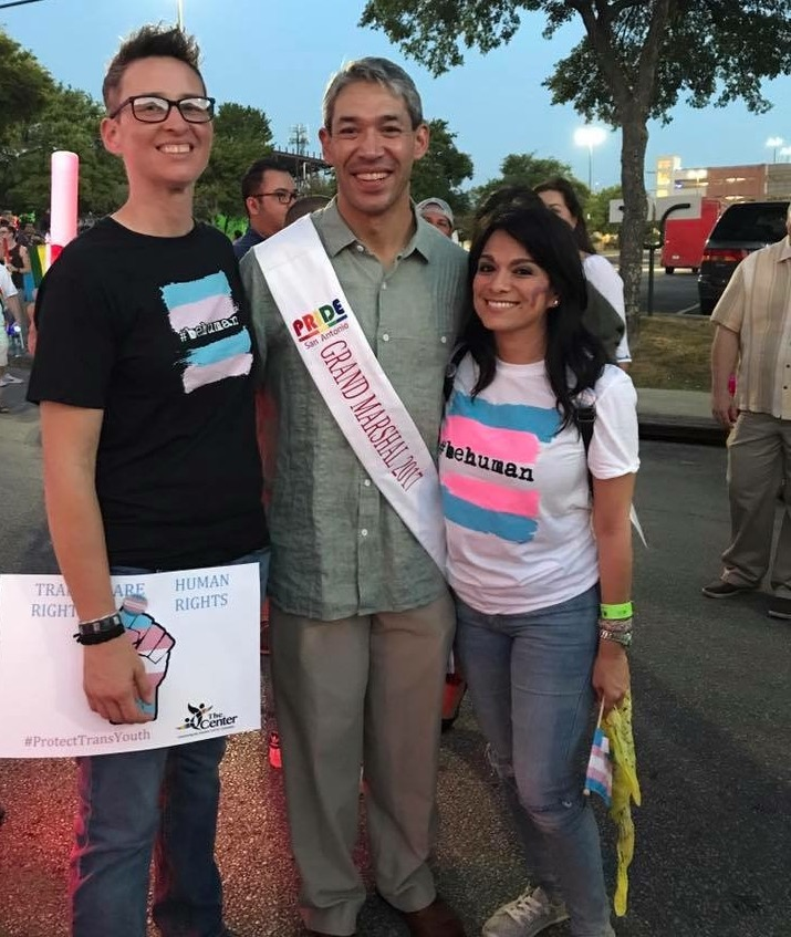 Kat and Belinda with Ron Nirenberg