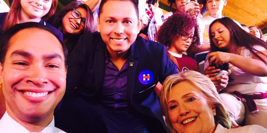 Julian Tovar with Hillary Clinton