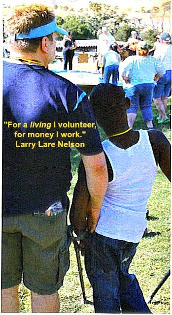 Larry Lare Nelson volunteering