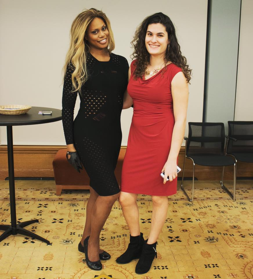 Emily Kaufman and Laverne Cox