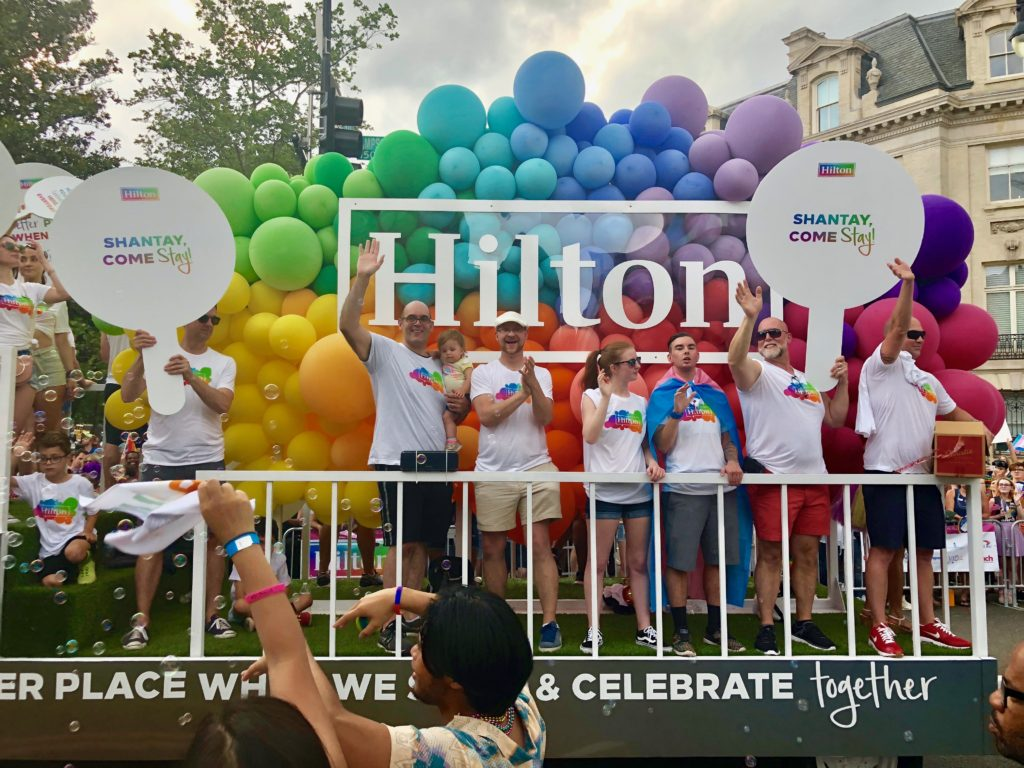 Hilton float at Capital Pride parade