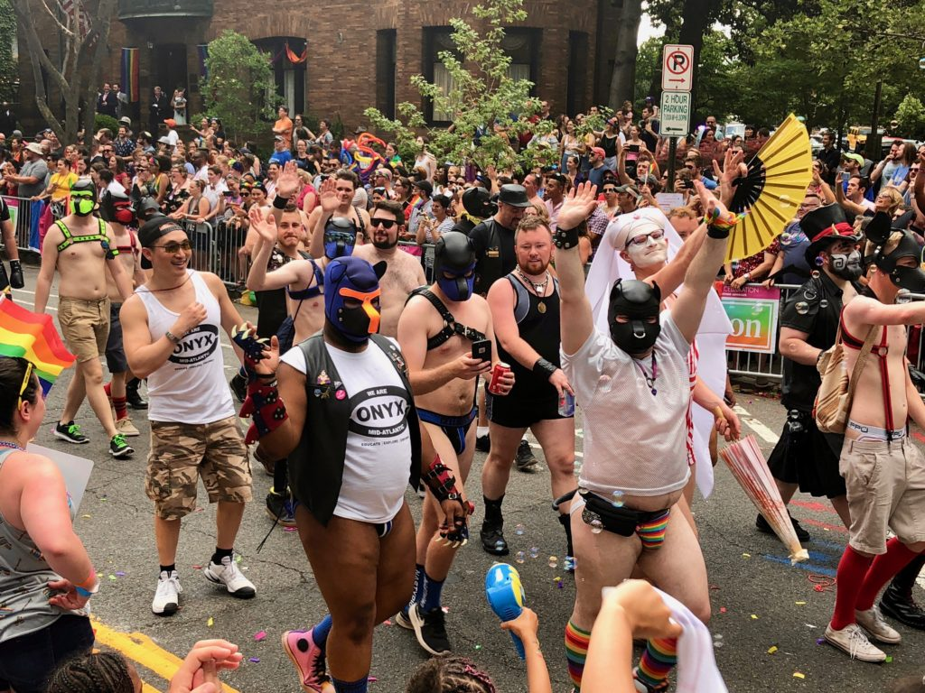 Capital Pride parade leather