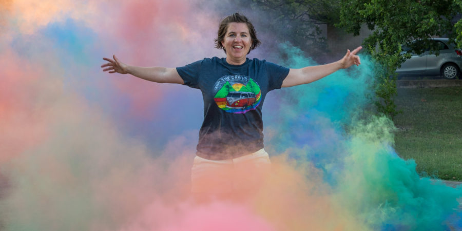 Pride Socks founder Rachel Smith