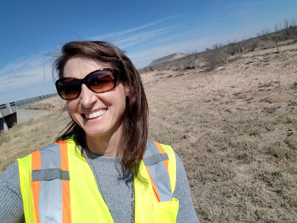 Danielle Skidmore on a work site as an engineer