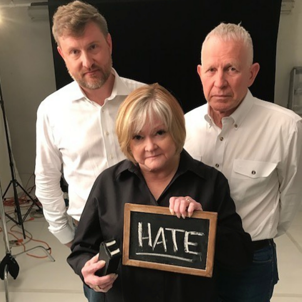 Jason Marsden with Judy and Dennis Shepard, the parents of Matthew Shepard