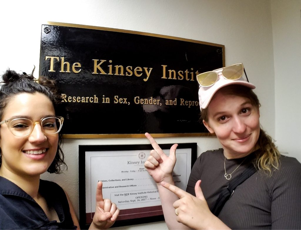 Trans author Samantha Allen and her wife at The Kinsey Institute