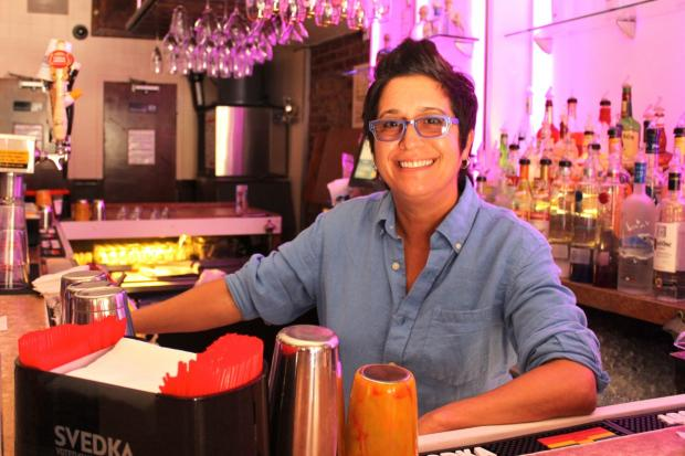 Lisa Cannistraci at her lesbian bar in NYC, Henrietta Hudson