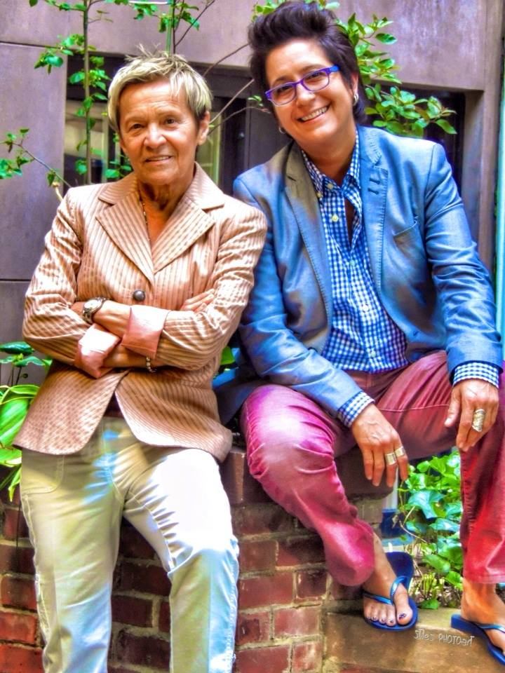 Cannistraci with Minnie Rivera, her business parter of their lesbian bar in NYC