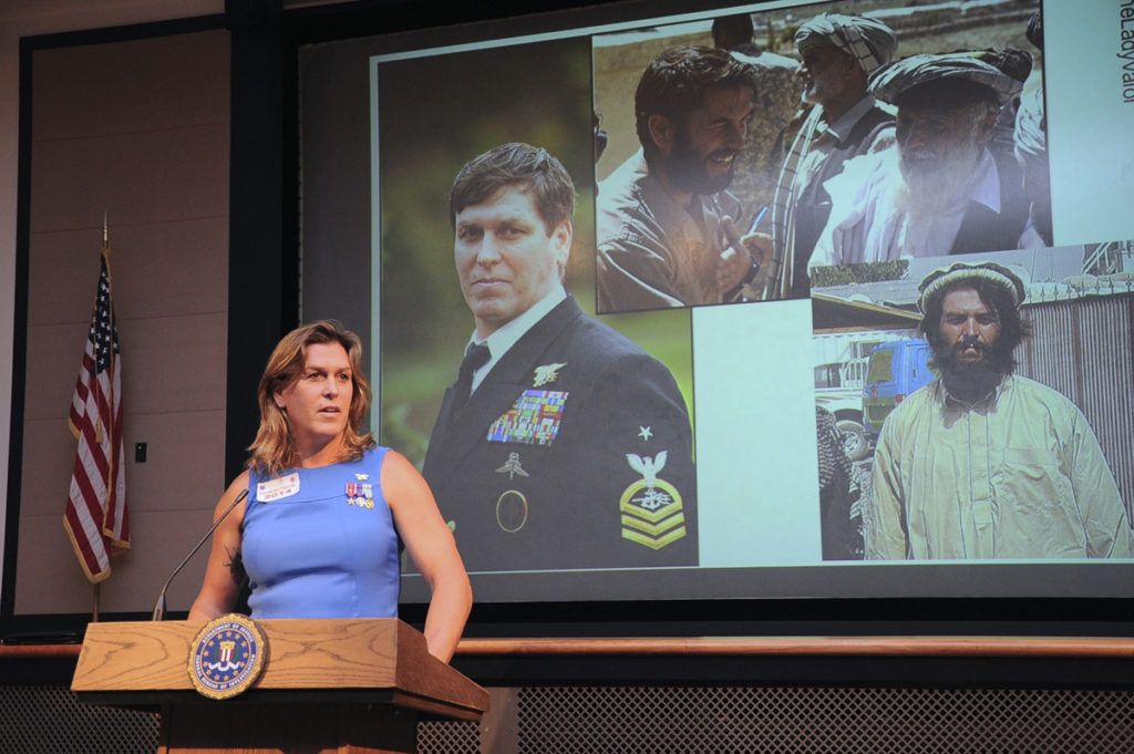 Kristin Beck speaking about her experiences in the military