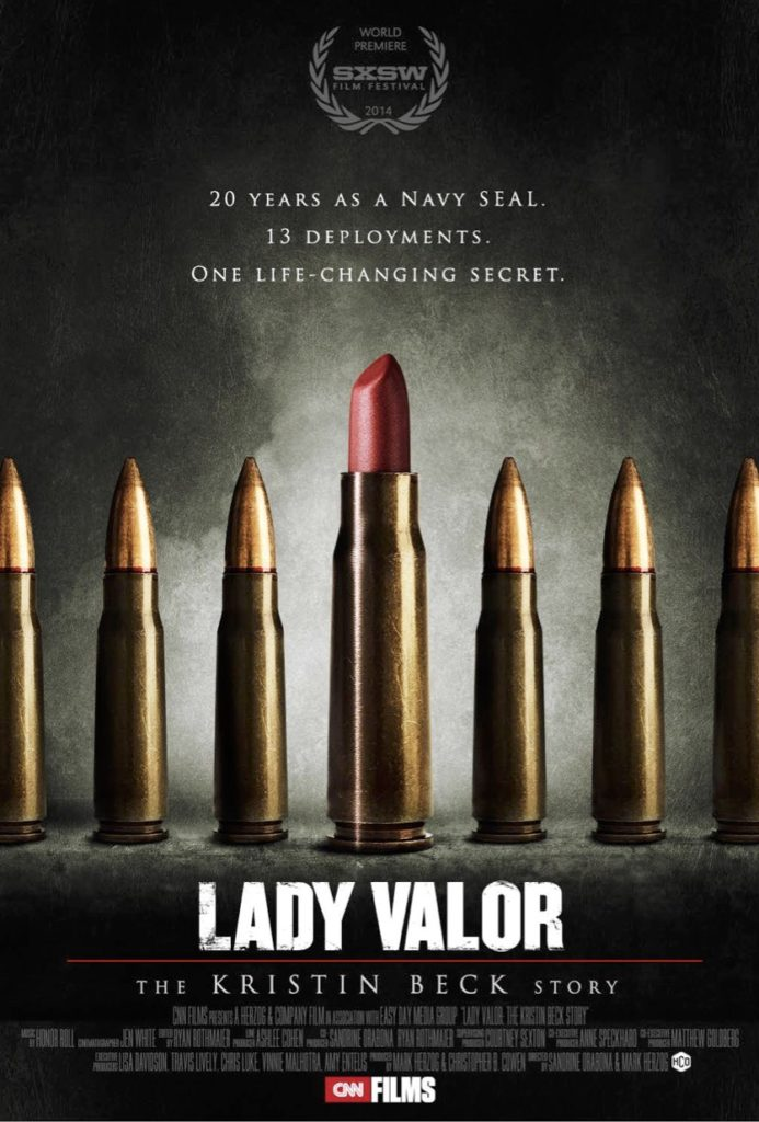 The poster for Lady Valor, the documentary about Kristin Beck