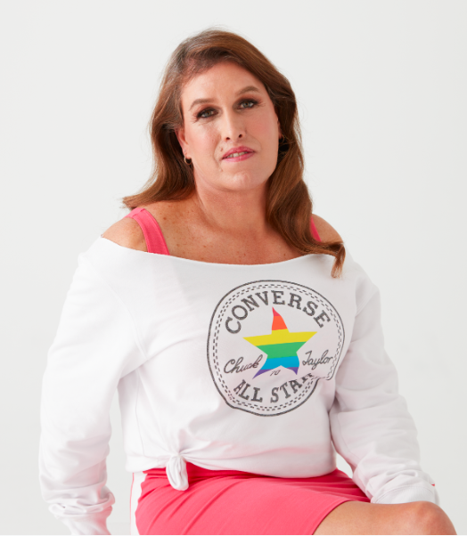 A photo of Kristin Beck for the Converse campaign