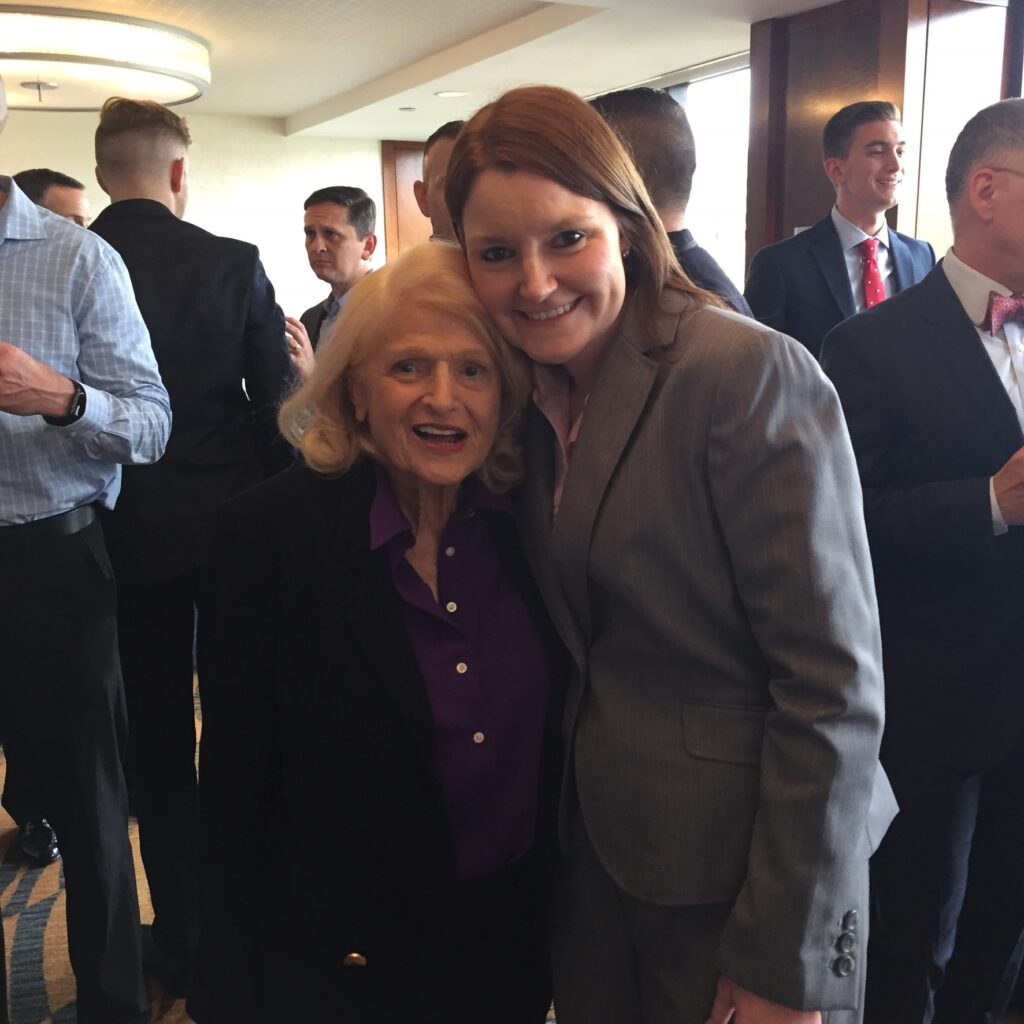 Jennifer Dane with marriage equality pioneer Edie Windsor