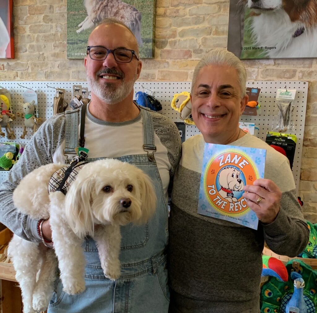 Larry, Zane, and James at their first book signing at The Principled Pet in Collingswood, NJ