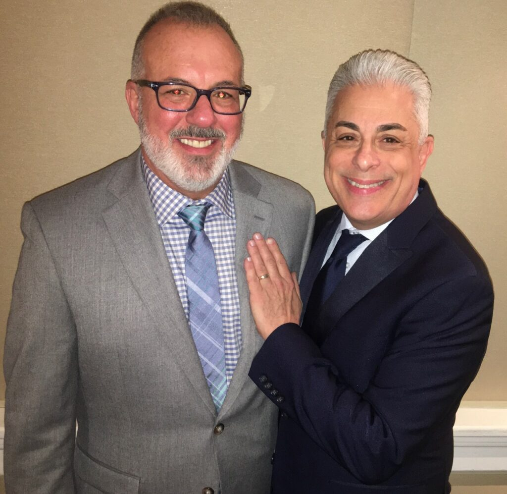 James Donio with his husband Larry