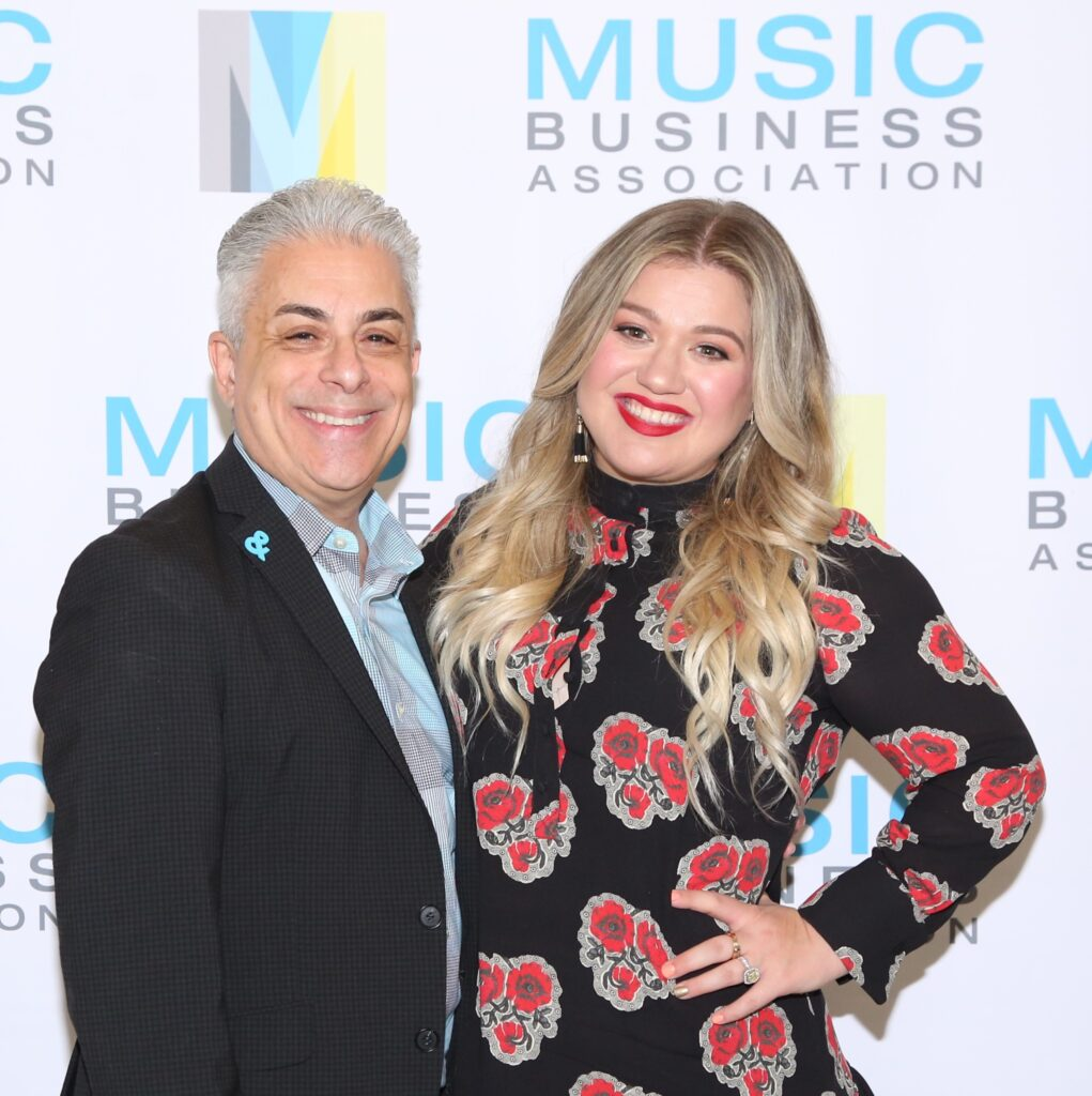 James Donio with Kelly Clarkson
