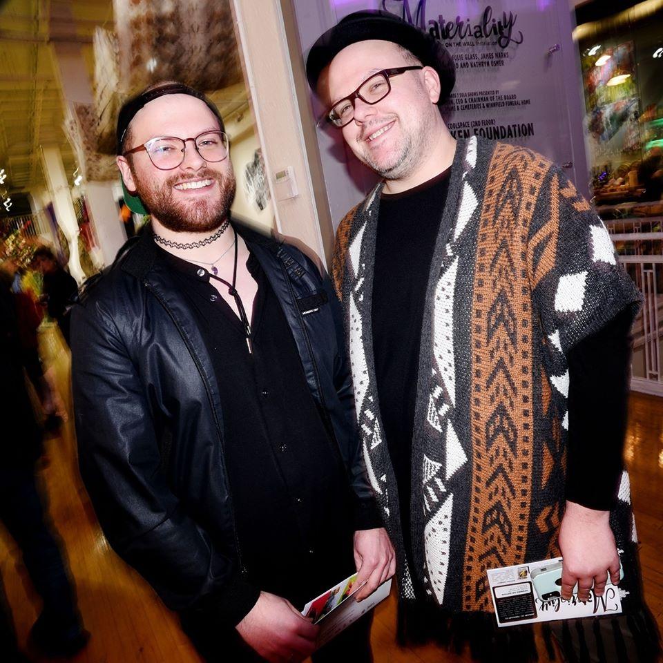 Derick Stevens-Jones (right) and their partner Evan
